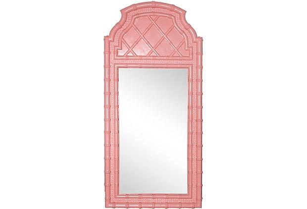 Coral Bamboo Mirror