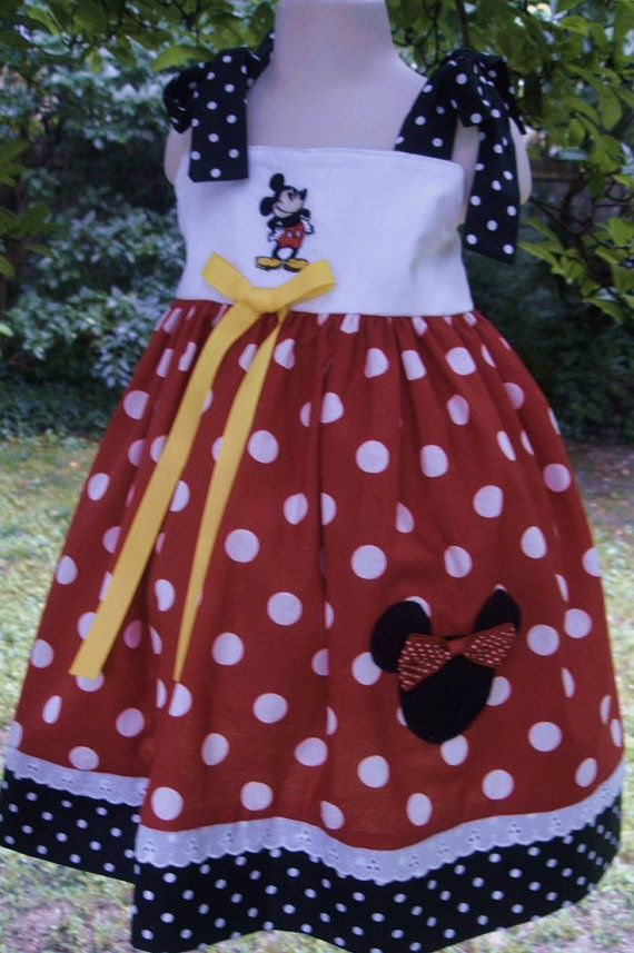 Mickey Mouse dress all orders are specially made by LovelandDolls, $29.00