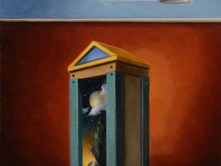 """""""La casa del poeta"""" olio su tela cm 50x40"""