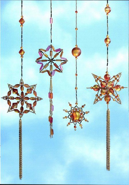 christmas ornaments crafts with beads: beaded ornaments | make handmade, crochet, craft