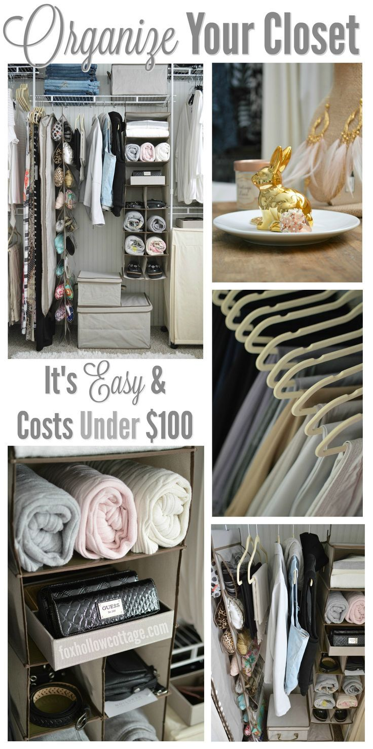 Organize Your Closet With 10 Things For Under $100