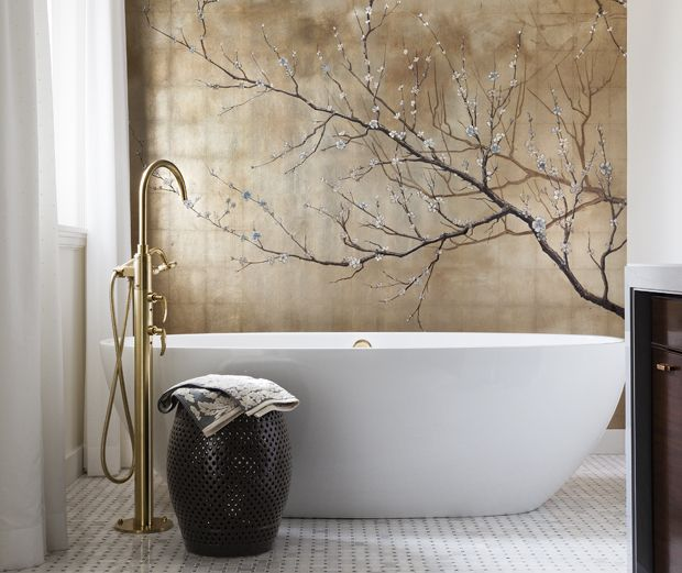 Incorporating asian inspired style into modern d cor zen bathroom cherry blossoms and blossoms - Asian themed bathroom decor ...