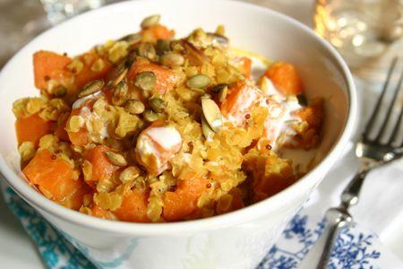 recette de cuisine curry de courge musquée et lentilles corail
