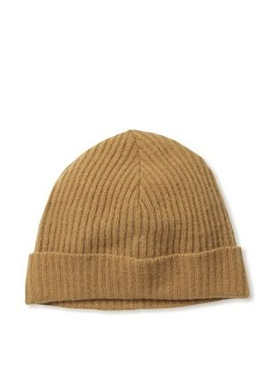 Portolano Men's Ribbed Cuffed Beanie (Toffee)