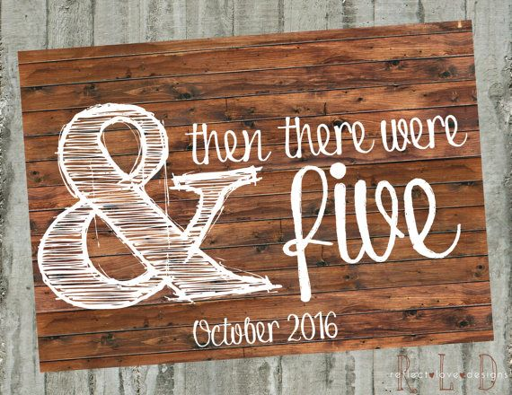 Printable Pregnancy Announcement  & then by ReflectLoveDesigns