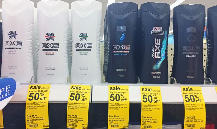 Caress & Axe Body Wash, Only $1.87 at Walgreens!