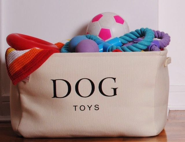 Love This Dog Toy Basket From Amazon. Neutral Colour Great Storage Idea.