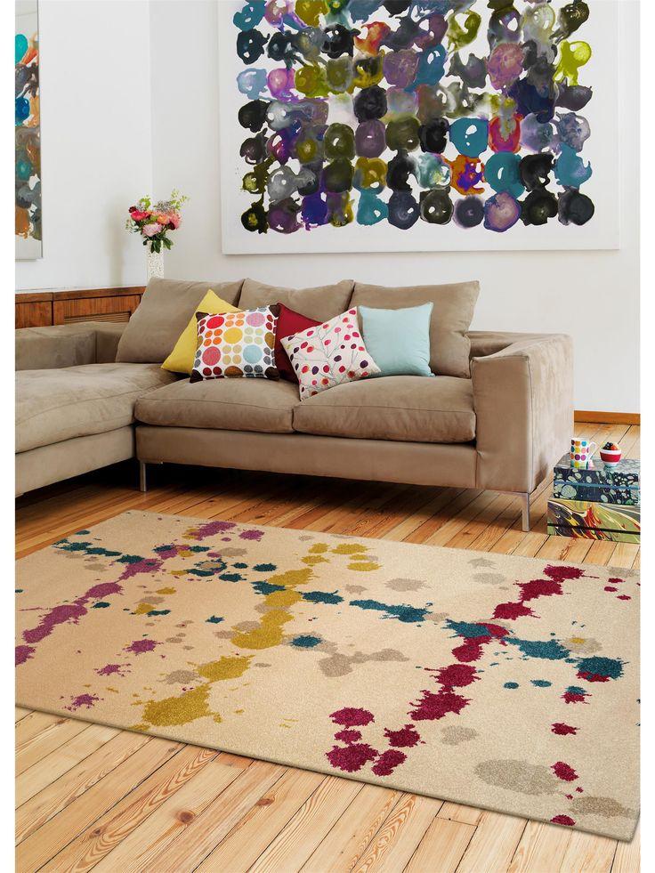 Farbexplosion Im Wohnzimmer Benuta Teppich Colour Drops Interior Rug
