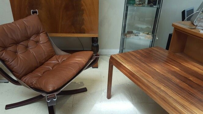 Chair and coffee table together