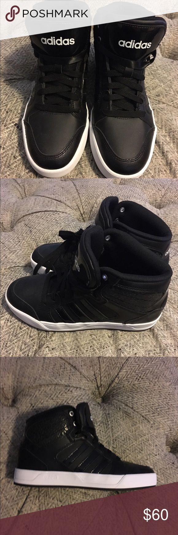 NWOT Adidas Neo High tops Black- Wm 6.5 Brand New- Never been worn, Cloud foam footbed adidas Shoes Athletic Shoes