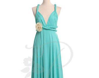 Bridesmaid Dress Infinity Dress Seafoam Green by thepeppystudio