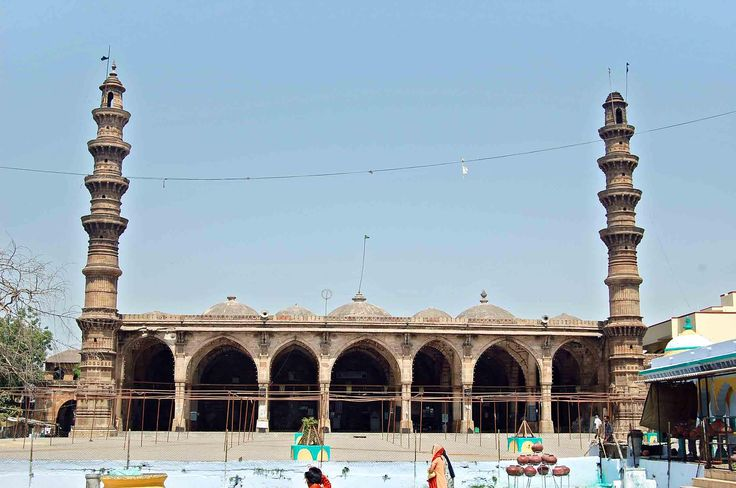 Shah Alam's Tomb, located in Ahmedabad. The construction of these building ranges over a century between A.D. 1475 to A.D. 1575. The main group comprises of two big mausoleums a mosque and an assembly hall. enclosure of twelve pillars.