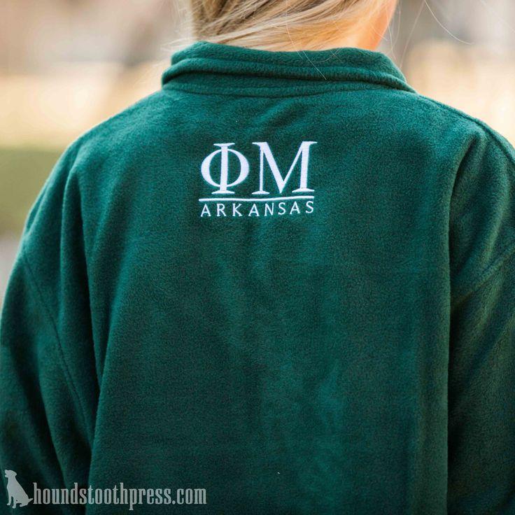Phi Mu Monogrammed Fleece | #LoveTheLab houndstoothpress.com | Phi Mu Shirts…