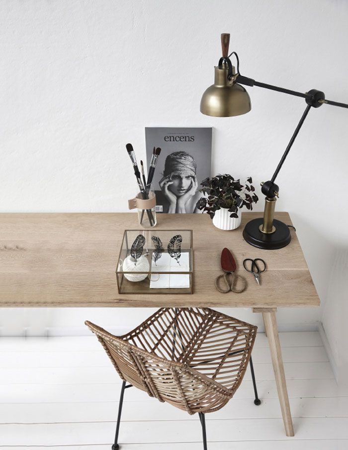 a clean and beautiful workspace at home