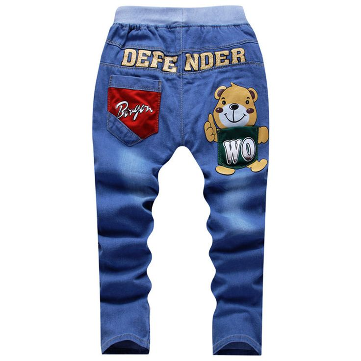 Spring Teens Jeans For Boy Jeans Boy Pants Designer Kids Jean Children's Elastic Waist Trousers-in Jeans from Mother & Kids on Aliexpress.com | Alibaba Group