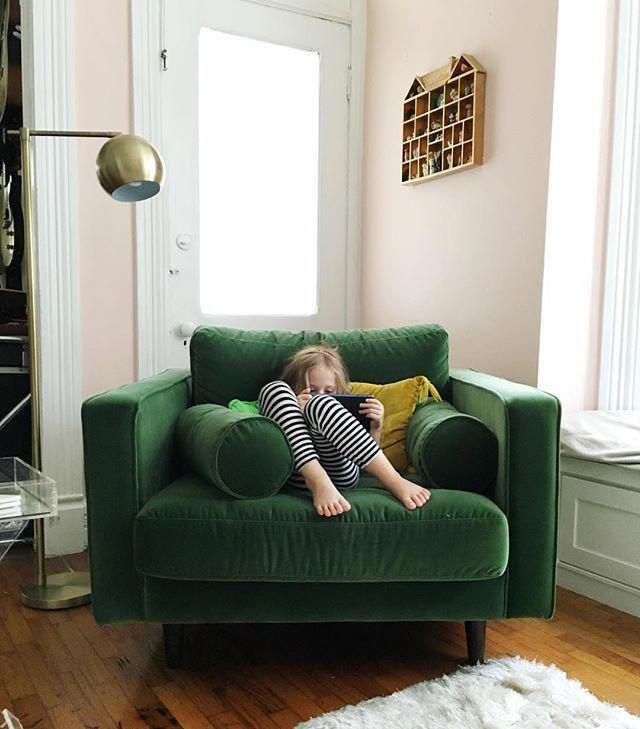 Sven Grass Green Chair Furniture Comfy Chairs Home