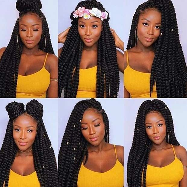 6 Cute Ways to Style Your Crochet Twists