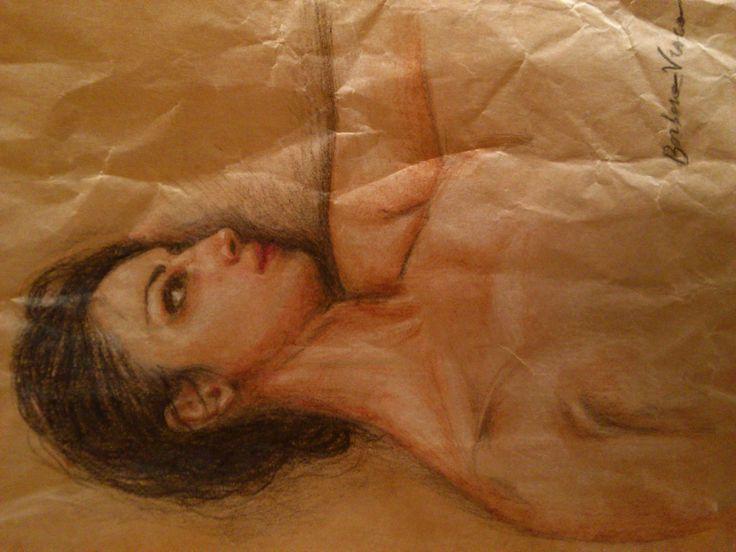 Autoritratto _ Barbara Visca #selfportrait by #barbaravisca #viscabarbara #visca #pencil