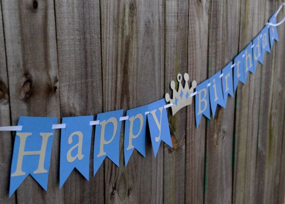 Prince Happy Birthday Banner Prince Party Boy by PacificPartyPaper, $20.00