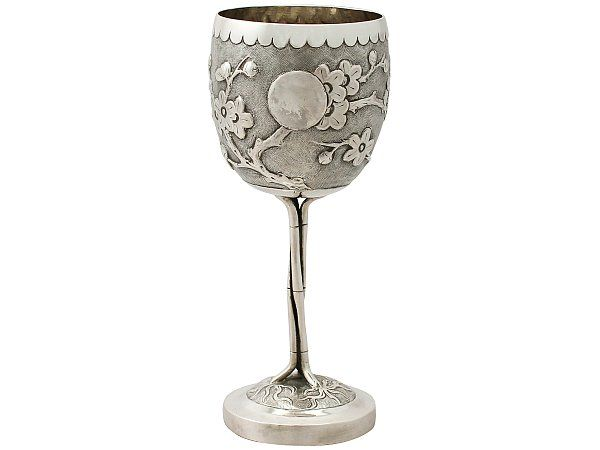 'Chinese Antique Silver Goblet' - View our full collection of Asian & Chinese export silver at http://www.acsilver.co.uk/shop/pc/Chinese-Asian-Antique-Silver-c75.htm