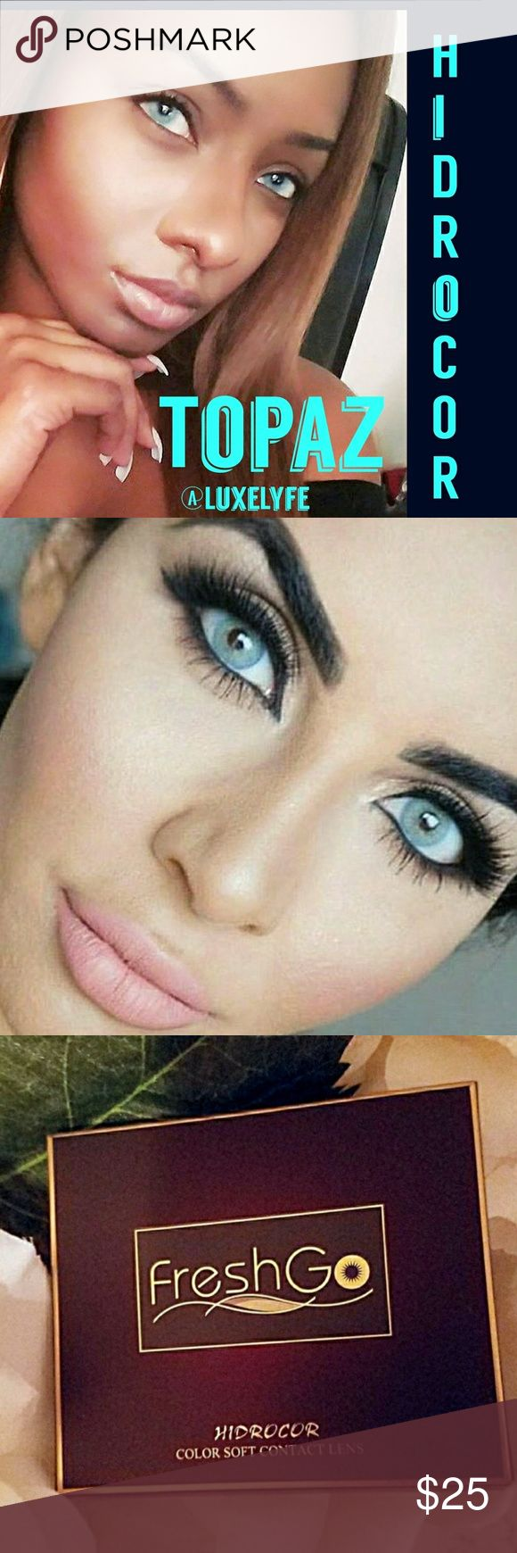 🎀Topaz COLOR CONTACT LENSES Gorgeous color. Total color change😍  ✔ Fast Shipping!📮 ✔ Brand New In Box 🎁 ✔ Lasts 12 months with proper care Makeup