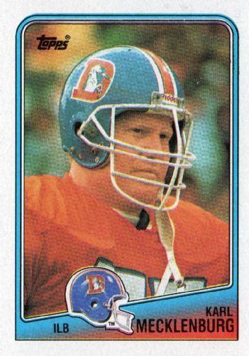 Karl Mecklenburg rookie broncos football card  | ... BRONCOS - Karl Mecklenburg #33 TOPPS NFL 1988 American Football Card
