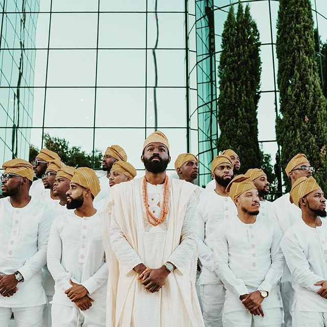 There's your #dailydoseofdapper! Thanks for sharing! #munagrooms #munatrad | #Repost @seyiopegbemi ・・・ We are simply connected to one another. My Groomsmen and I displayed the beauty of my Nigerian culture which is deeply rooted to royalty. We are powerful and very intelligent young men. Let this define who we are. 📷 by @temi.coker #tierawedsdavid2016 #groomsmen #groominspiration #brotherhood #munaluchi #munaluchibride #weddingthings #inlove #munafw16