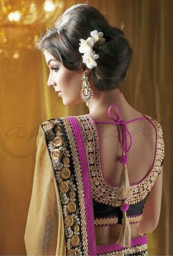 Elegant saree / sari with blouse