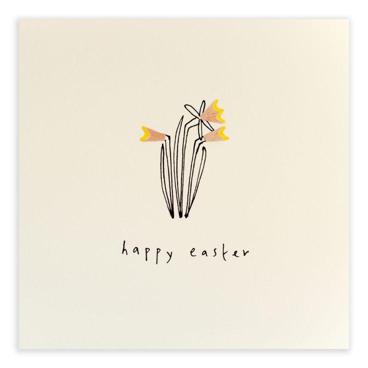An intricate card with beautiful seasonal daffodils