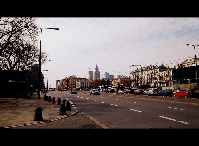 view from the Charles de Gaulle roundabout in Warsaw