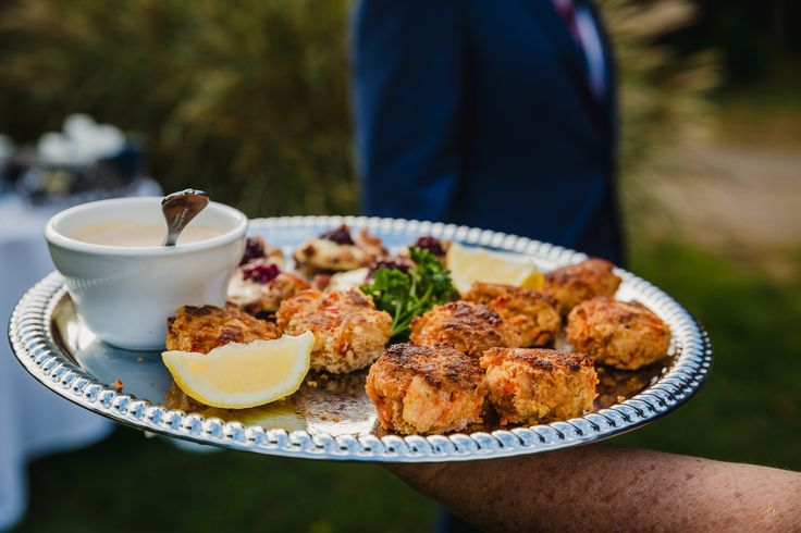 Maine Crab Cakes with Remoulade Sauce. Photo credit www.lisaWphotography.com