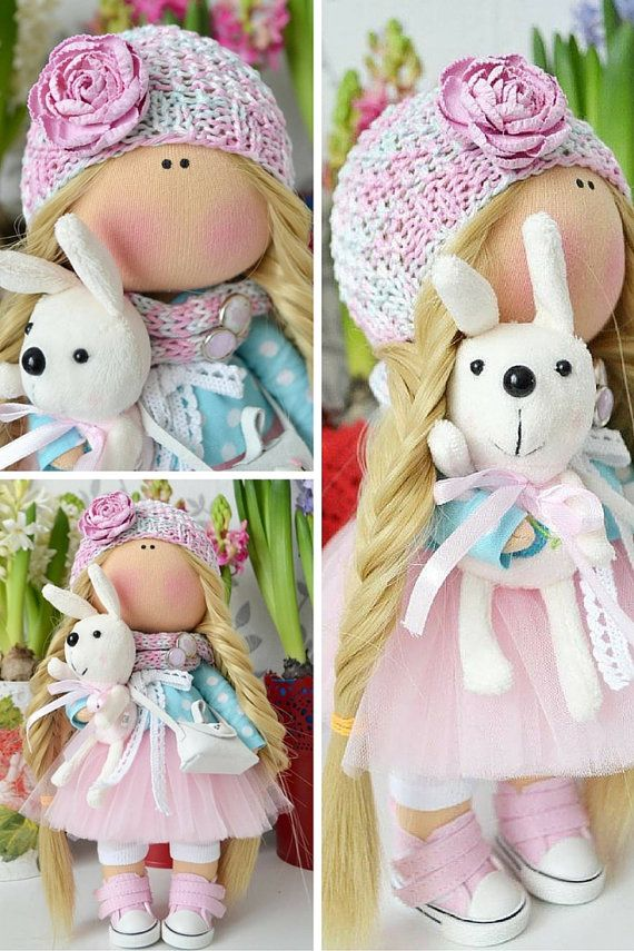 Rag doll Cloth doll Handmade doll Baby doll от AnnKirillartPlace