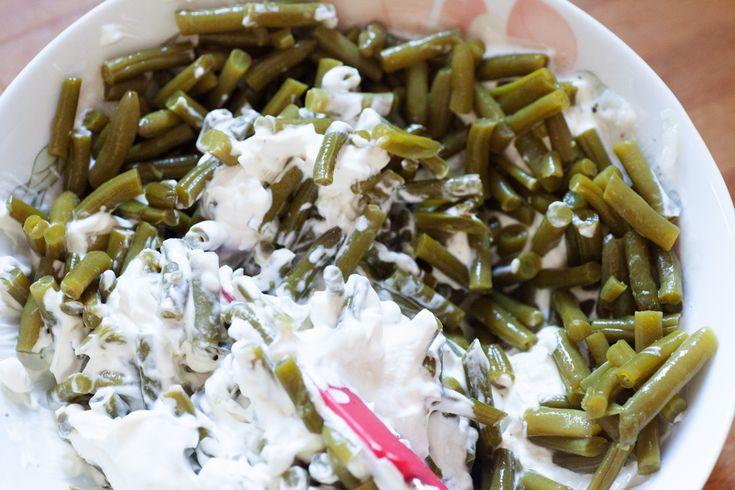 Grüne Bohnen Salat mit Schmand