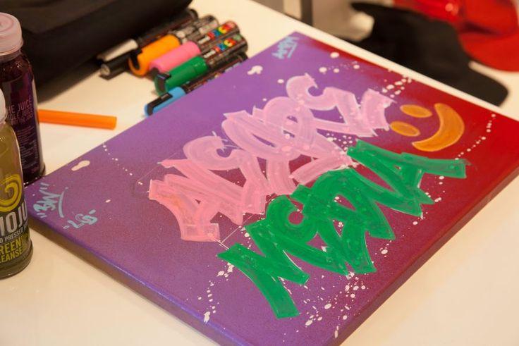Moju Juice and Graffiti!  Alegre Media's SS16 'Out of the Box' Press Day! #alegrepressday  Photo Credit: Tom Colvile