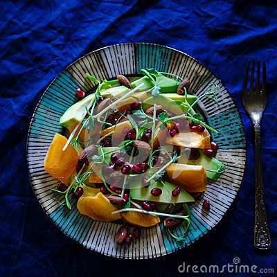 Raw Vegan Salad - Download From Over 28 Million High Quality Stock Photos, Images, Vectors. Sign up for FREE today. Image: 47564880 Eating #colors #persimmon #pomegranate #salad #breakfast #sprouts #sunflower #peas #avocado