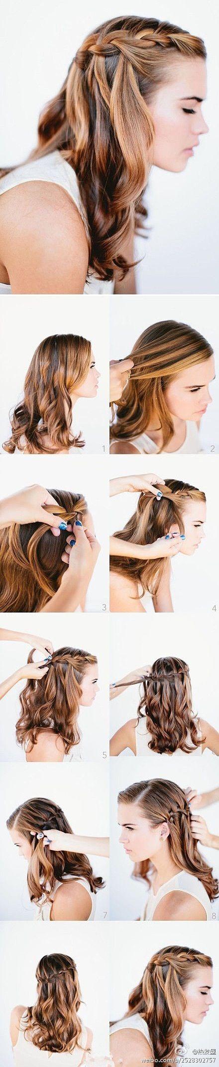 capelli sciolti+treccia