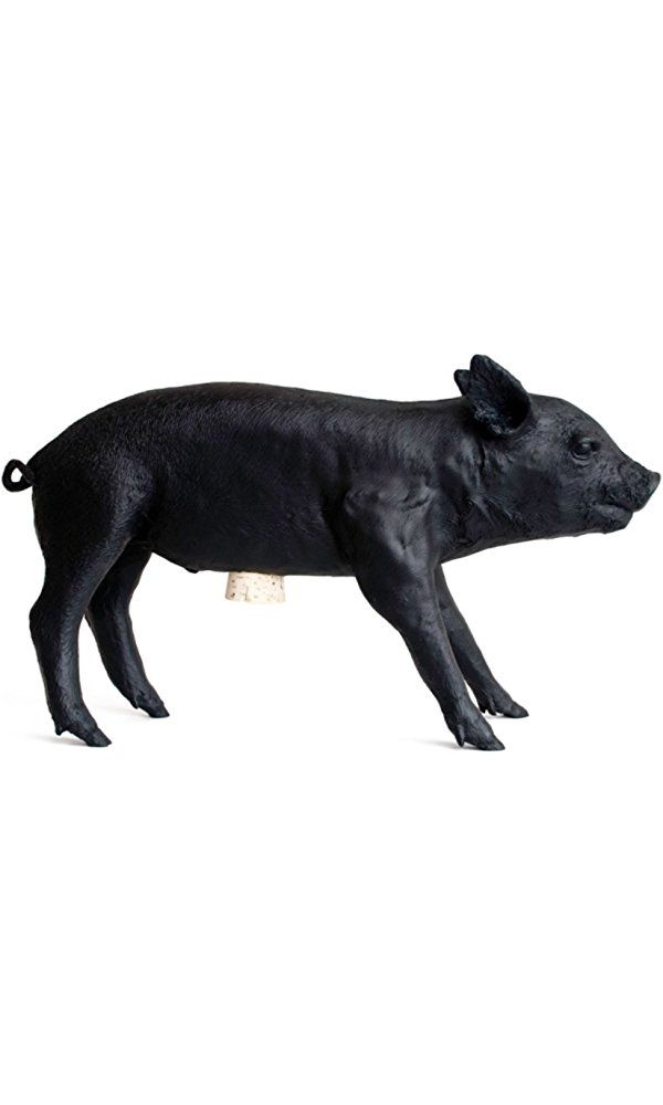 Areaware Bank in The Form of a Pig, Matte Black Best Price