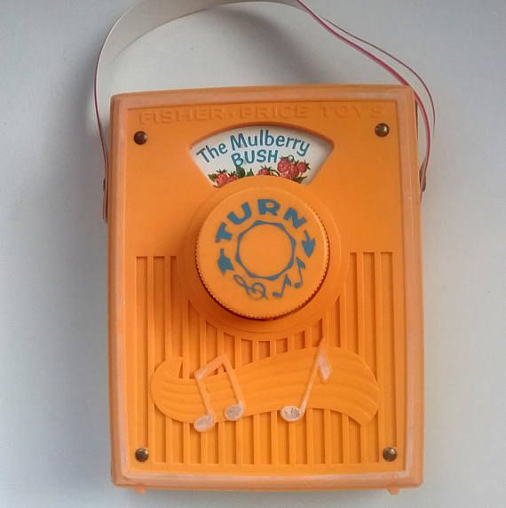 Vintage Fisher Price Pocket Radio The Mulberry Bush Music