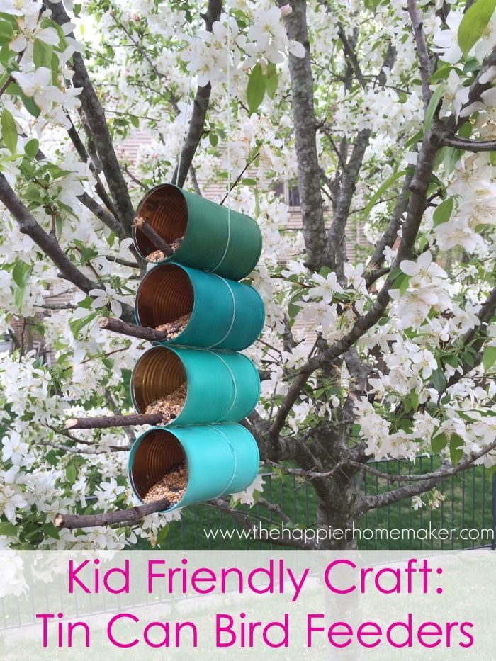 Kid's Craft: DIY Ombre Tin Can Bird Feeder
