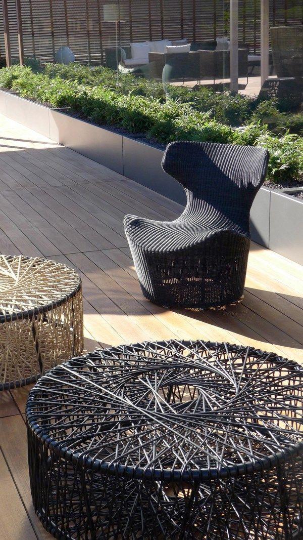 Unique furniture textures.