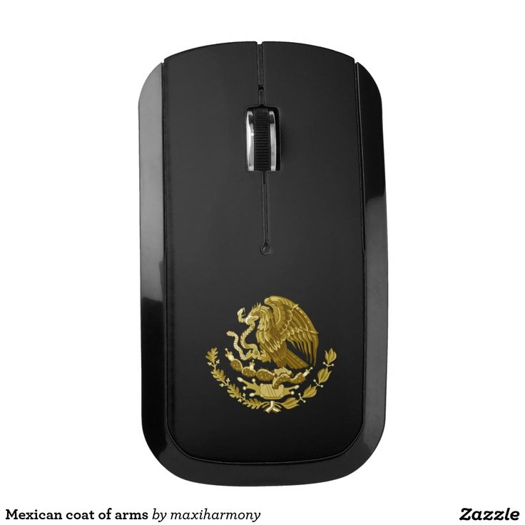 Mexican coat of arms wireless mouse