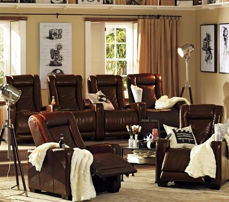 Media Room Seating From Pottery Barn