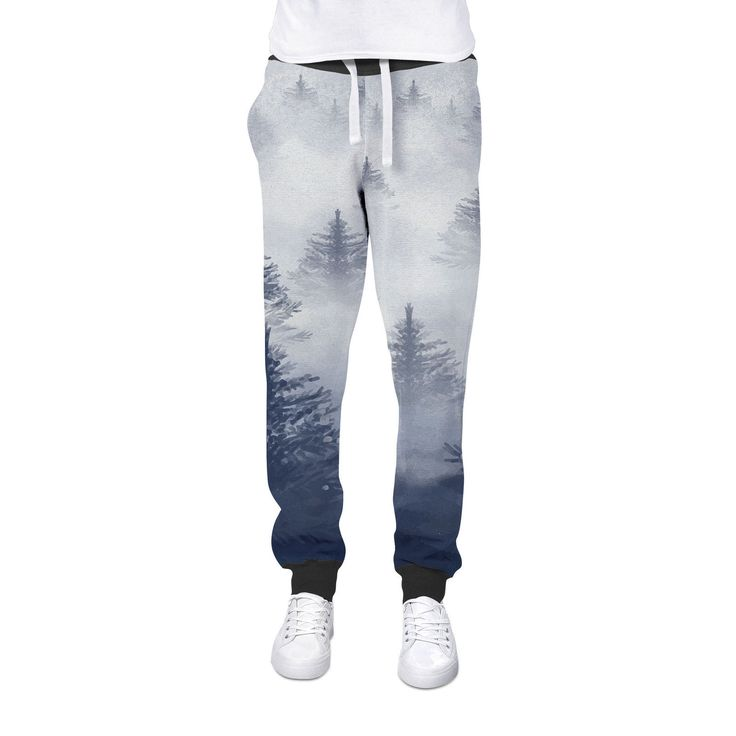 Misty Forest Cuffed Joggers Womens Sweatpants Jogging Bottoms