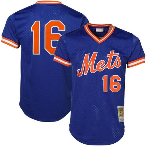 Dwight Gooden New York Mets Mitchell & Ness Cooperstown Mesh Batting Practice Jersey - Royal - $79.99