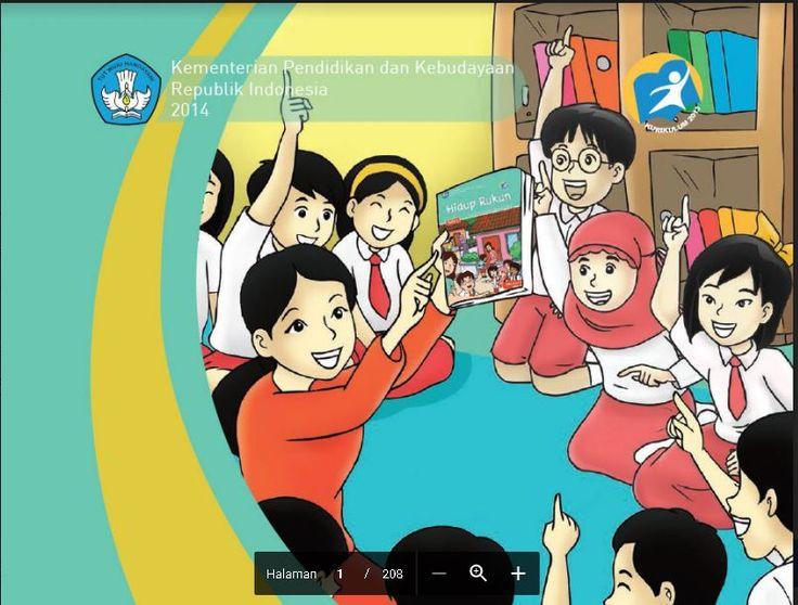 Edisi Revisi Buku Tematik Kurikulum 2013 Buku Guru  SD/MI Kelas 2 Tema 1 Hidup Rukun Format PDF