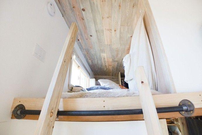 Winzige Mini Projekthaus die Größe eines kleinen Schlafzimmer-Designs von Alek Lisefski