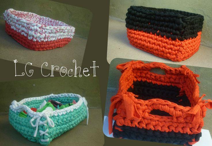 Cestos al Crochet en totora