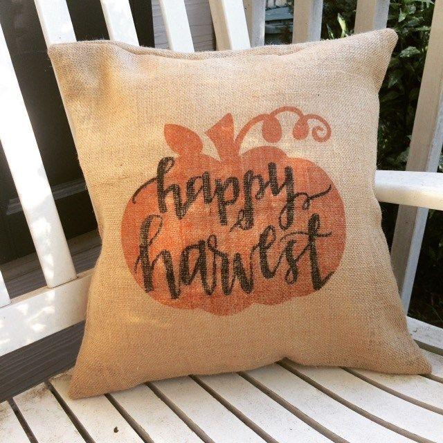 Fall Burlap Pillow Sham Cover Blowout