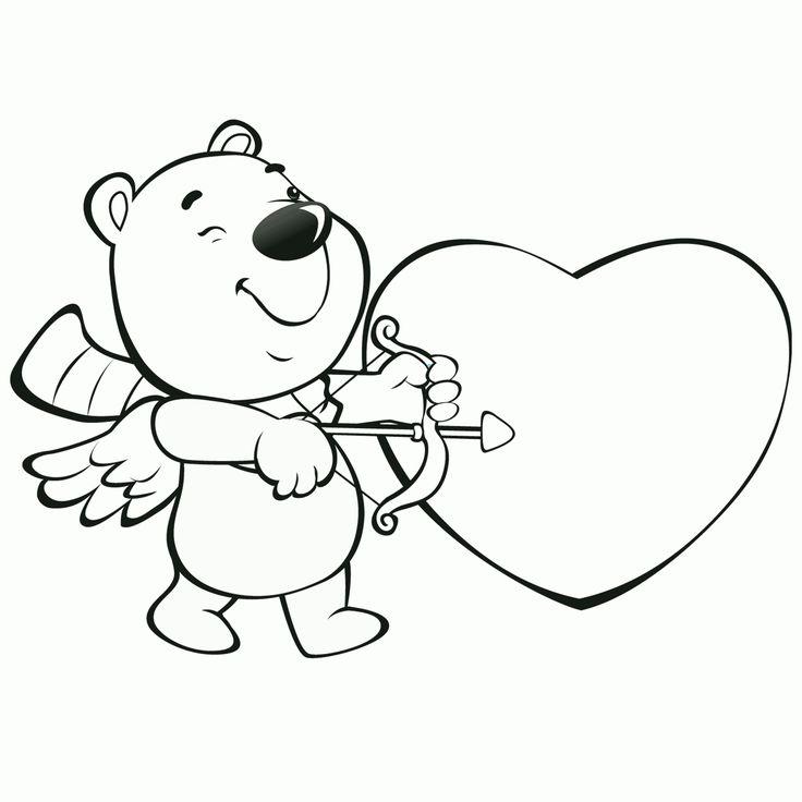 Magnífico Colorear Tarjetas De San Valentín Friso - Dibujos Para ...