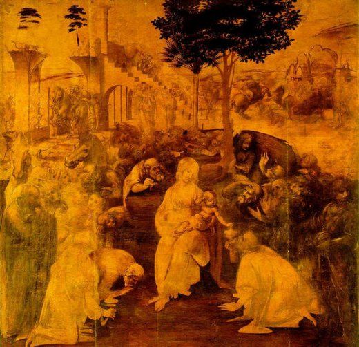 leonardo da vinci paintings > adoration of the magi